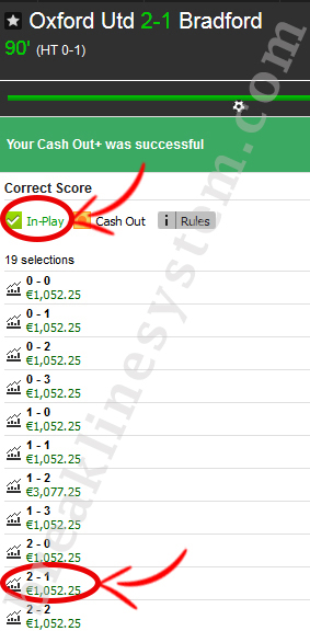 Some screenshots of sports betting results achieved thanks to my strategy.